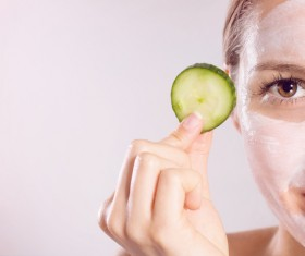 Woman doing skin care Stock Photo 03