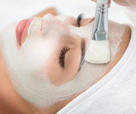 Woman doing skin care Stock Photo 05