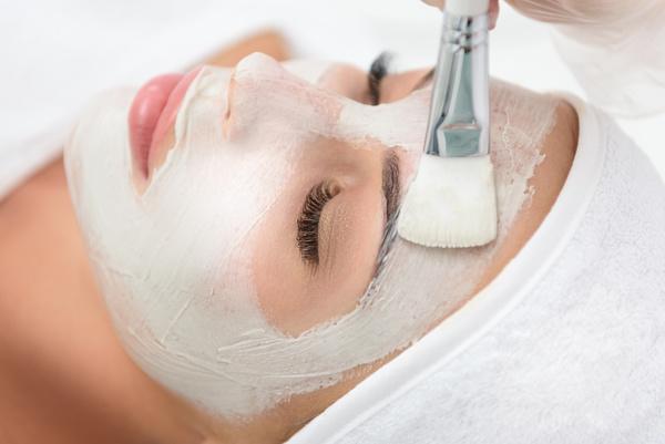 Woman doing skin care Stock Photo 05