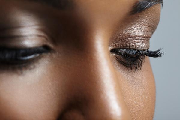 Woman face close up Stock Photo