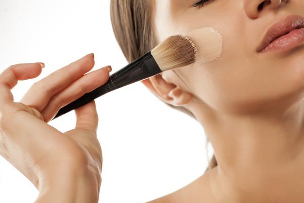 Woman rubs moisturizers and creams Stock Photo 07