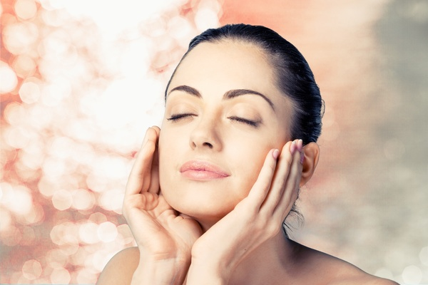 Woman with perfect skin Stock Photo 01