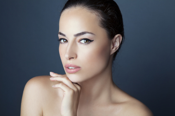 Woman with perfect skin Stock Photo 02