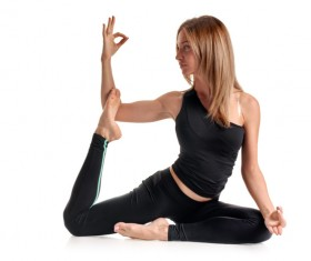 Woman yoga fitness Stock Photo 01