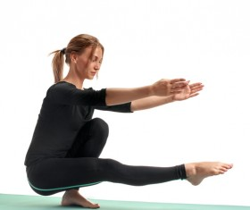 Woman yoga fitness Stock Photo 02