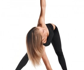 Woman yoga fitness Stock Photo 03