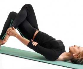 Woman yoga fitness Stock Photo 04