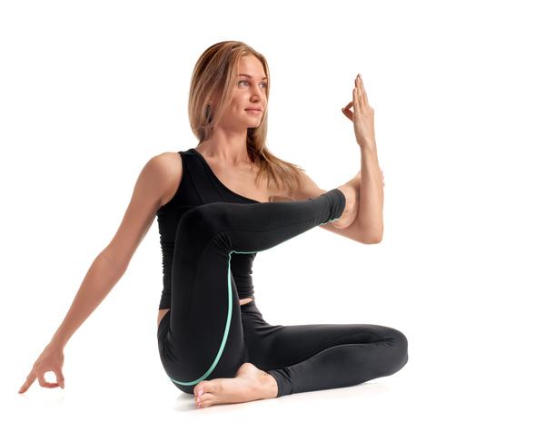Woman yoga fitness Stock Photo 05