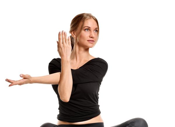 Woman yoga fitness Stock Photo 06