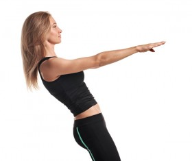 Woman yoga fitness Stock Photo 07