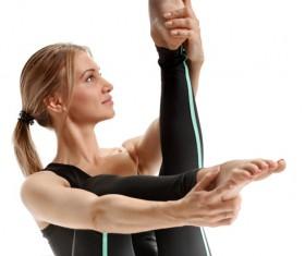 Woman yoga fitness Stock Photo 09