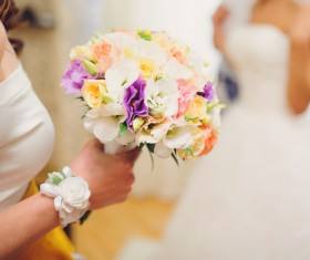 Womans bouquet in hands Stock Photo 04