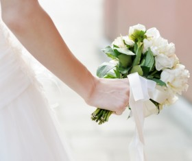 Womans bouquet in hands Stock Photo 05