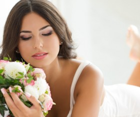 Womans bouquet in hands Stock Photo 06