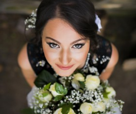 Womans bouquet in hands Stock Photo 07