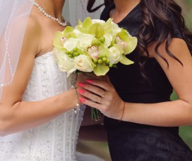 Womans bouquet in hands Stock Photo 08