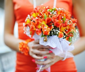 Womans bouquet in hands Stock Photo 09