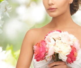 Womans bouquet in hands Stock Photo 10
