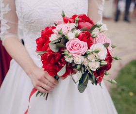 Womans bouquet in hands Stock Photo 12