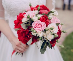 Womans bouquet in hands Stock Photo 13