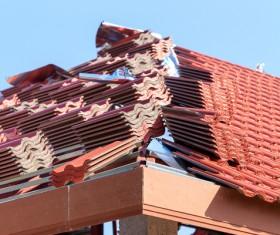 Worker repairing the roof Stock Photo 08