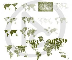 World Maps Photoshop Brushes