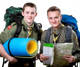 Young Boy Scouts Stock Photo 02