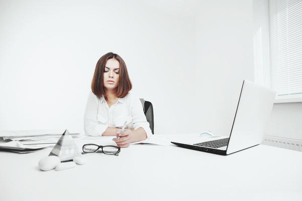 Young beautiful office female staff Stock Photo 03