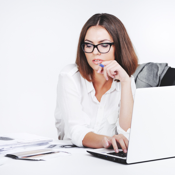 Young beautiful office female staff Stock Photo 04