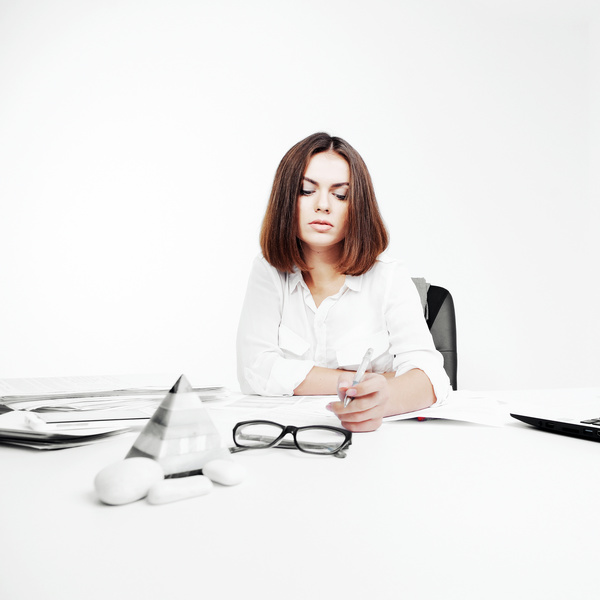 Young beautiful office female staff Stock Photo 06