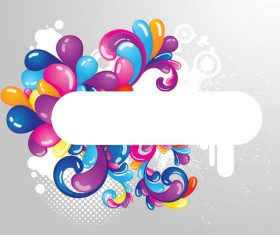 abstract colored elements with modern background vector 01