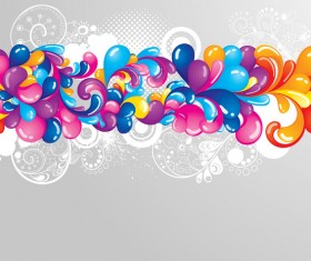 abstract colored elements with modern background vector 02