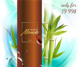 bamboo cosmetic advertising poster vector
