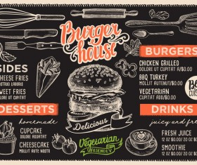 burger food menu vector