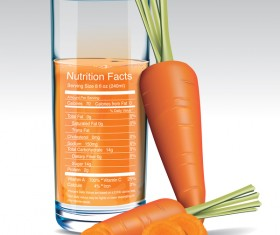 carrot juice nutrition vector
