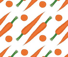 carrot seamless pattern vector 02