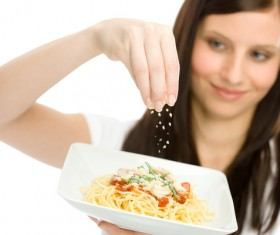 carrying food woman Stock Photo 03