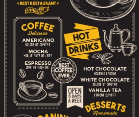 coffee drink menu design vector 02
