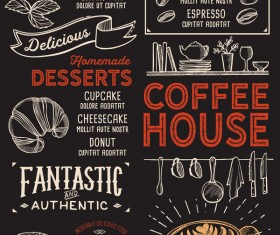 coffee drink menu design vector 03
