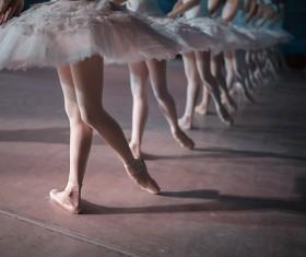 female ballerina on the stage Stock Photo 01