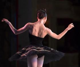 female ballerina on the stage Stock Photo 02