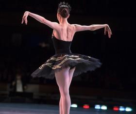 female ballerina on the stage Stock Photo 03