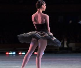 female ballerina on the stage Stock Photo 04