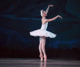 female ballerina on the stage Stock Photo 05