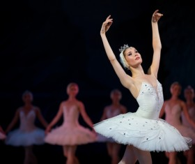 female ballerina on the stage Stock Photo 06