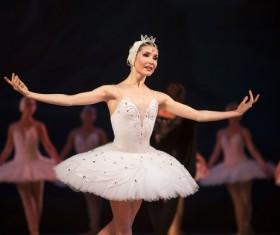 female ballerina on the stage Stock Photo 07