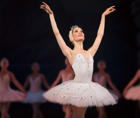 female ballerina on the stage Stock Photo 08