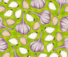 garlic seamless pattern vector 01