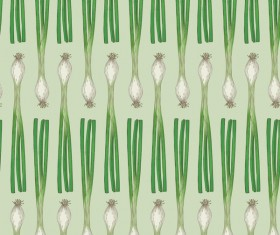 green onion seamless pattern vector