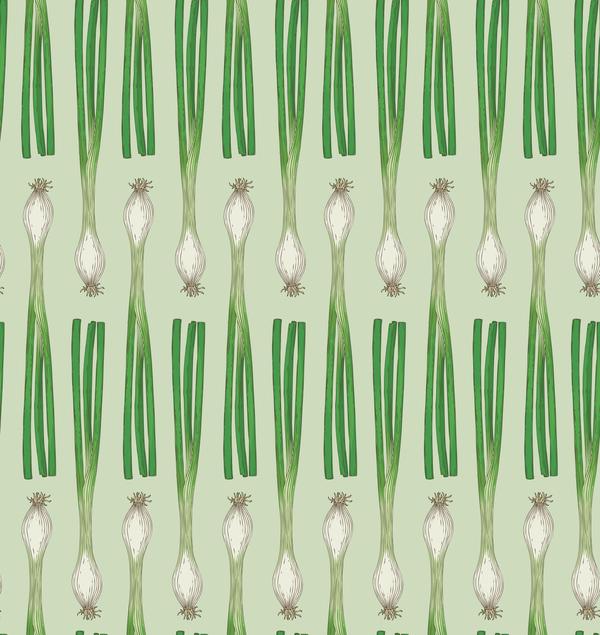 green onion seamless pattern vector